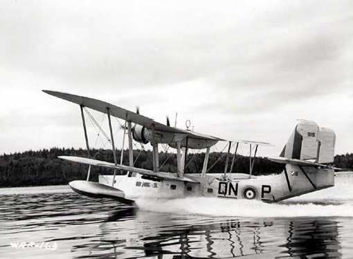 Old but still efficient, the Supermarine Stanraer flying boat flew coastal patrols until 1944. Stanraer 916 QN:P of No 5 Squadron, RCAF, was photographed in June 1940 in Dartmouth, Nova Scotia.