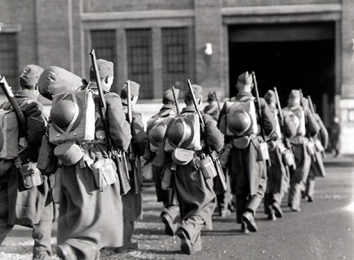 The second flight of the 1st Infantry Division departing for overseas. Halifax, December 20th - 22nd, 1939.