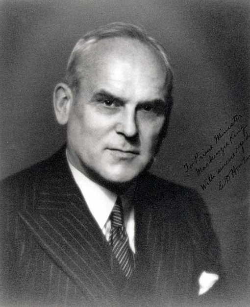 Photograph of C.D. Howe inscribed to Prime Minister King.