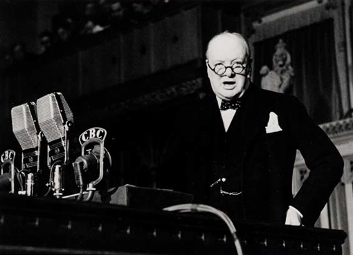 """""""Some chicken! Some neck!"""" utters Winston Churchill to the House of Commons in Ottawa, December 30th, 1941, answering to those who believed Great Britain would fall like a chicken with its neck wrung."""