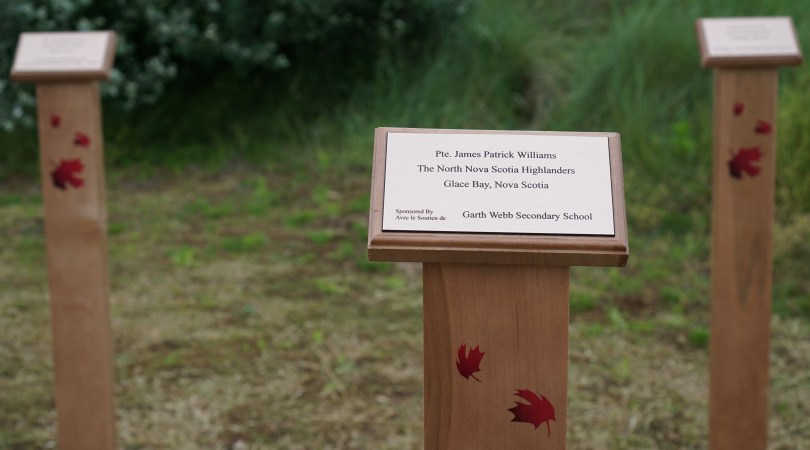 Tribute marker for James Patrick Williams