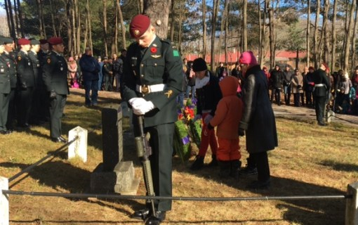 Laying the Juno Beach Centre wreath