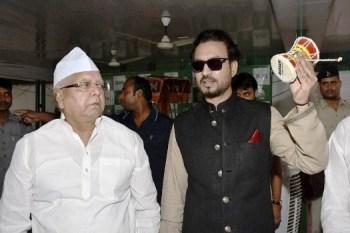 Lalu Yadav and Irrfan Khan