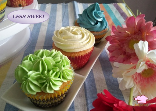Colourful buttercream cupcakes