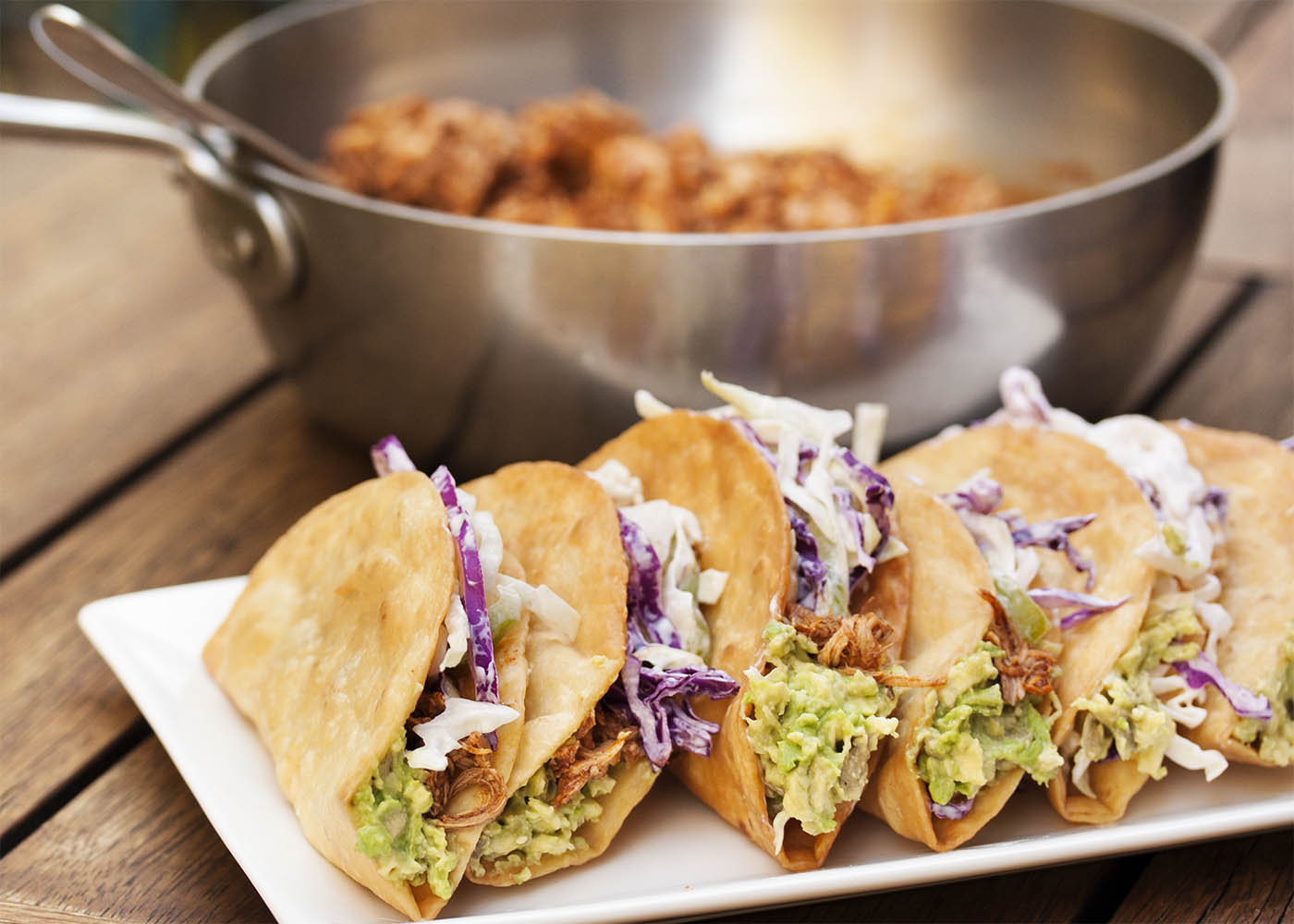 Beer Braised Pulled Chicken Tacos - These tacos feature ...
