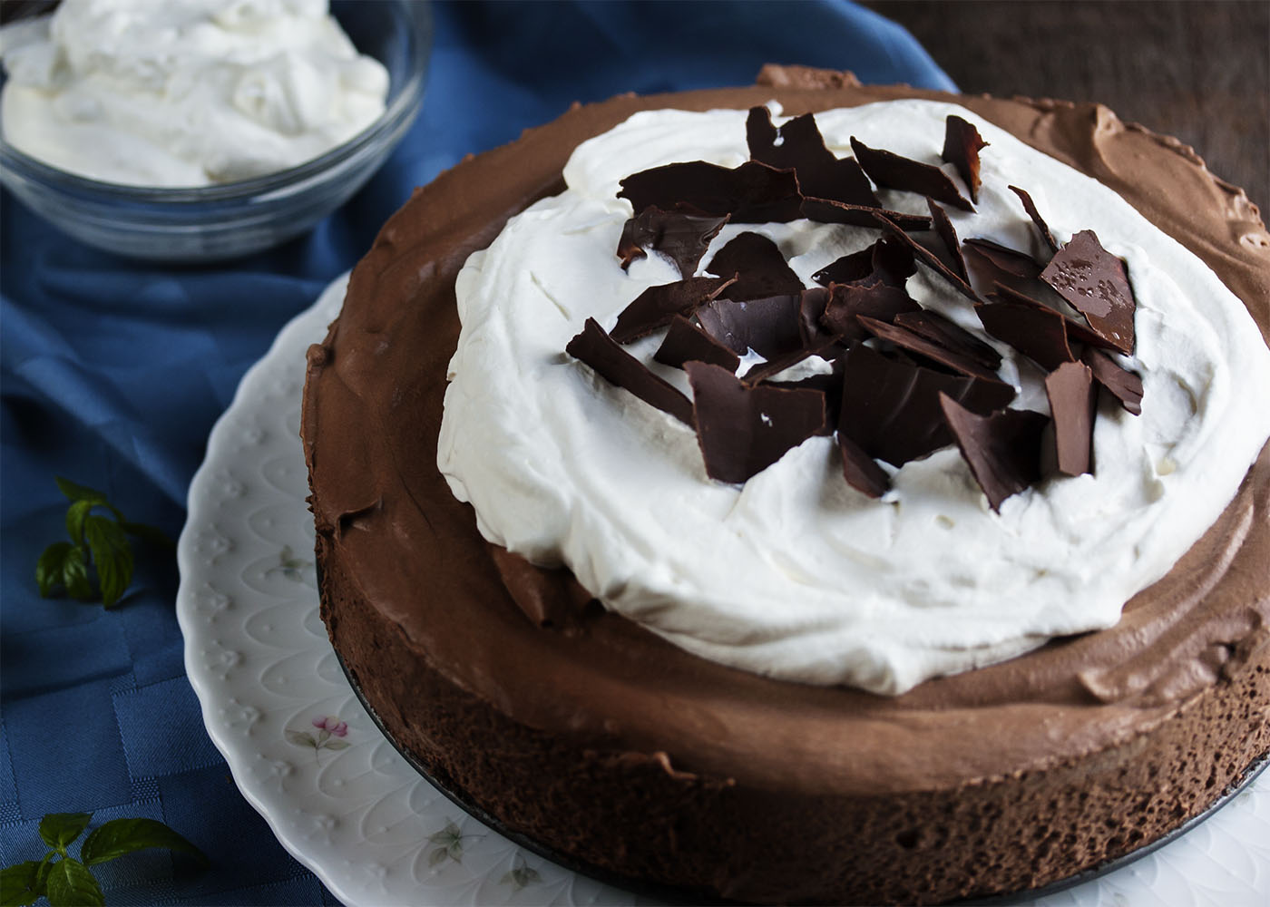 Chocolate Mousse Pie - Dark chocolate whipped up into a creamy mousse ...