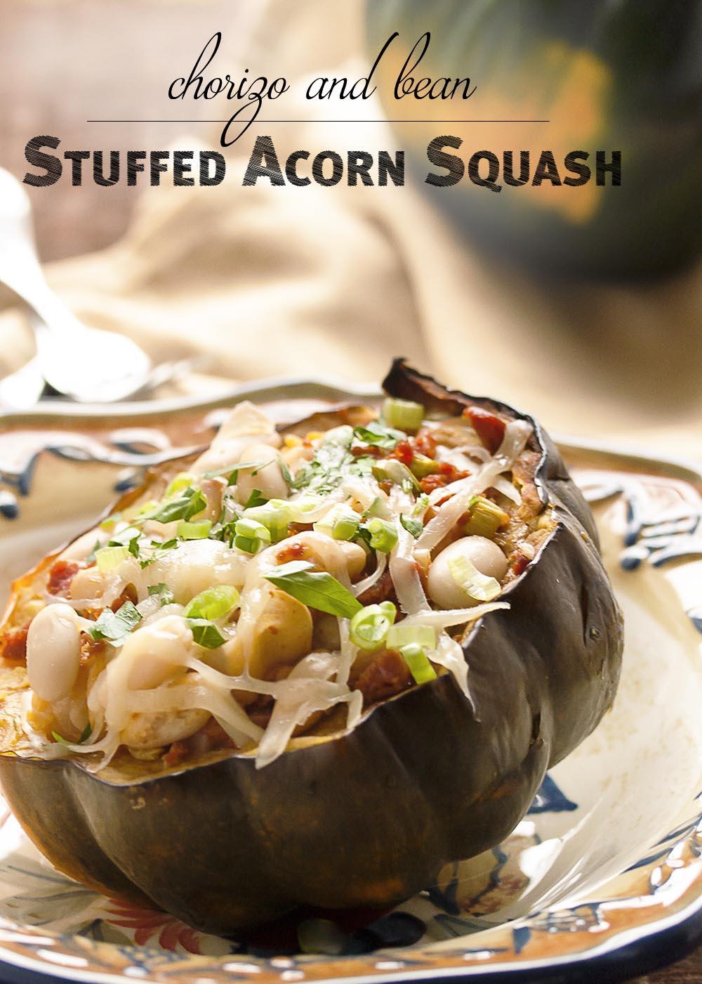 Acorn Squash Stuffed with Chorizo Sausage - Acorn squash is roasted ...