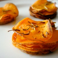 Roasted Sweet Potato Stacks