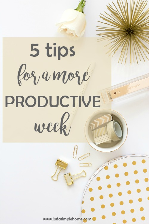 5 tips for a productive week