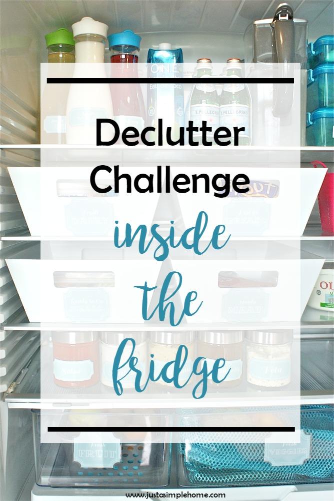 Declutter Challenge Fridge