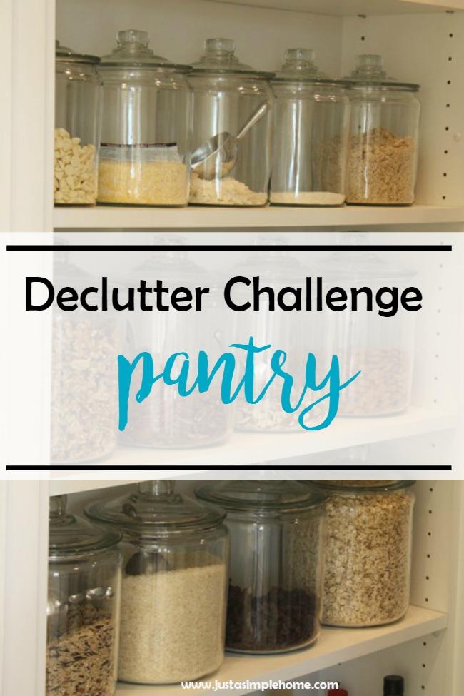 Declutter Challenge Pantry