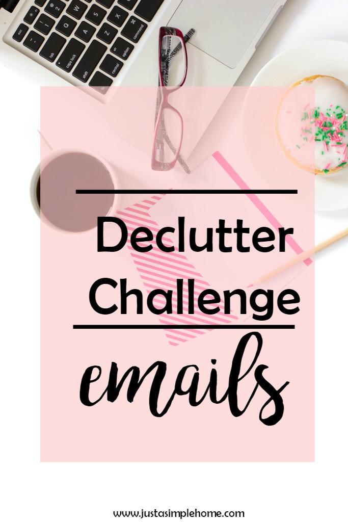Declutter challenge emails