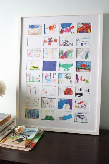 Art Collage to Store Child Artwork