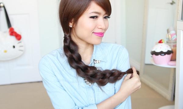 3D Split Twist Braid Hairstyle by Bebexo