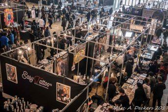 Le Mondial du Tatouage 2017 à la Grande Halle de la Villette à Partis.