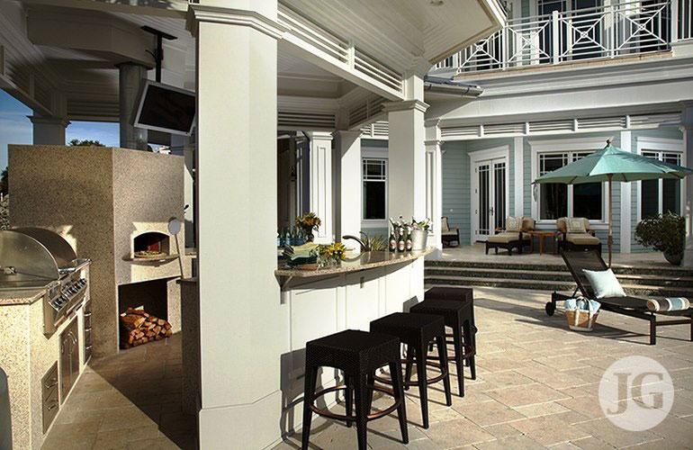 Outdoor kitchen design installation just grillin tampa fl for Outdoor kitchen designs florida