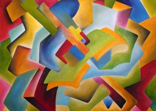 """Cubist Study"" -  Oil on Canvas, 42"" x 38"" - 2003"