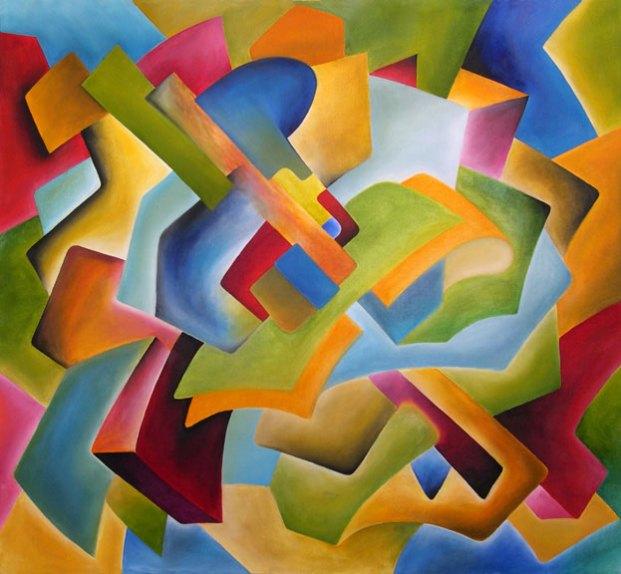 """Cubist Study"" - Oil on Canvas, 42"" x 38"" - 2003"