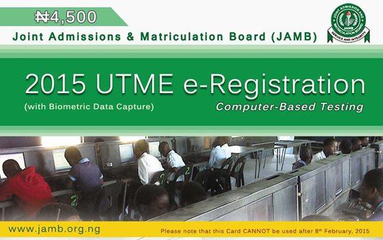 2015 JAMB UTME Registration