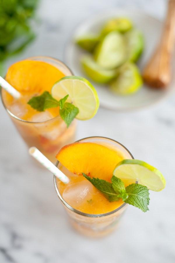 Peach Mojito Mocktail