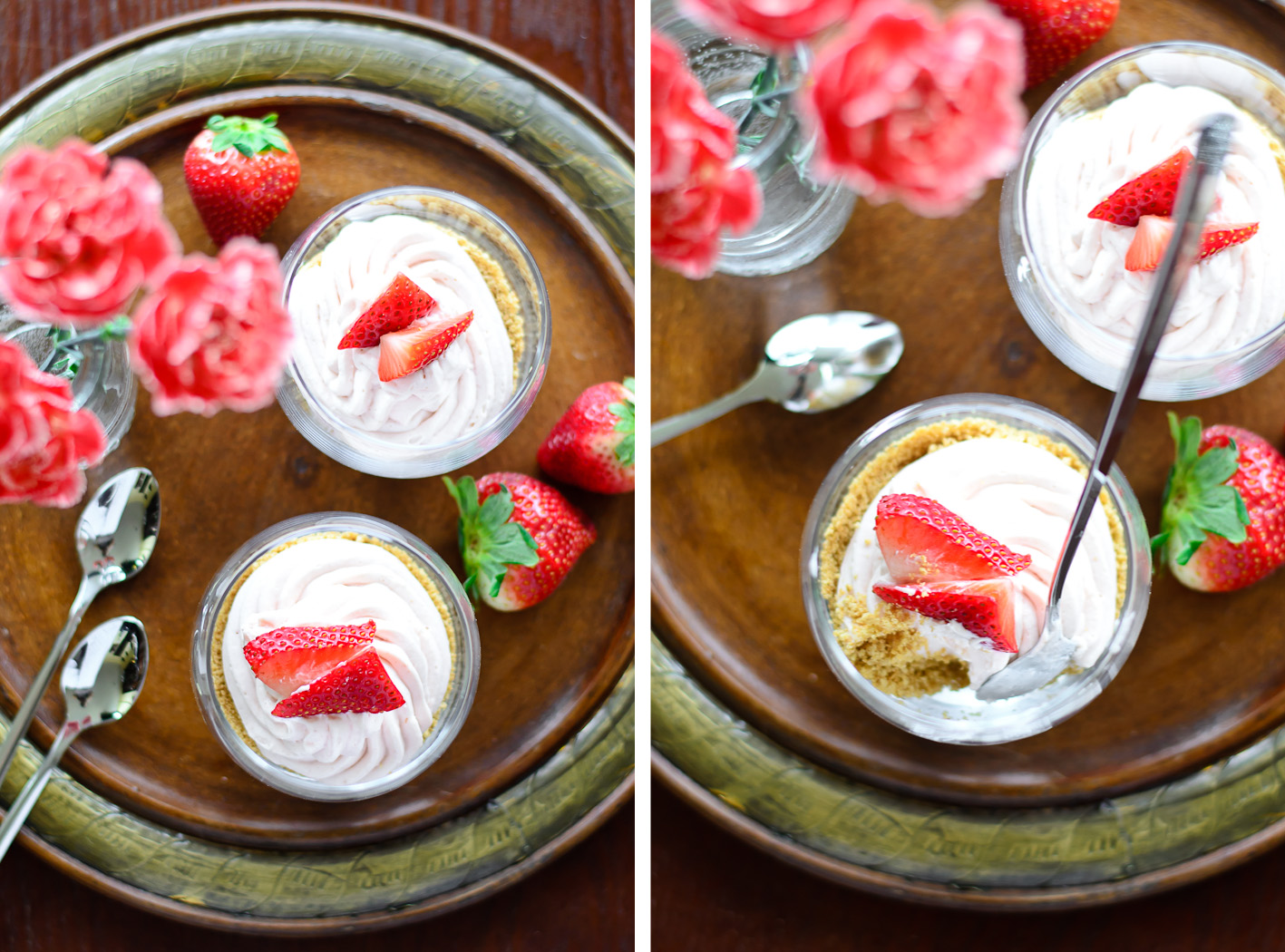 Strawberry Cream Pie Cups Collage 2