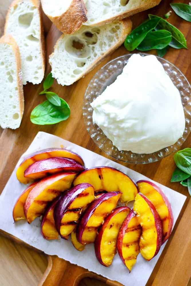 Grilled Nectarine Toasts 8b