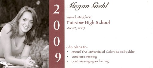 Medium Of Graduation Announcement Wording