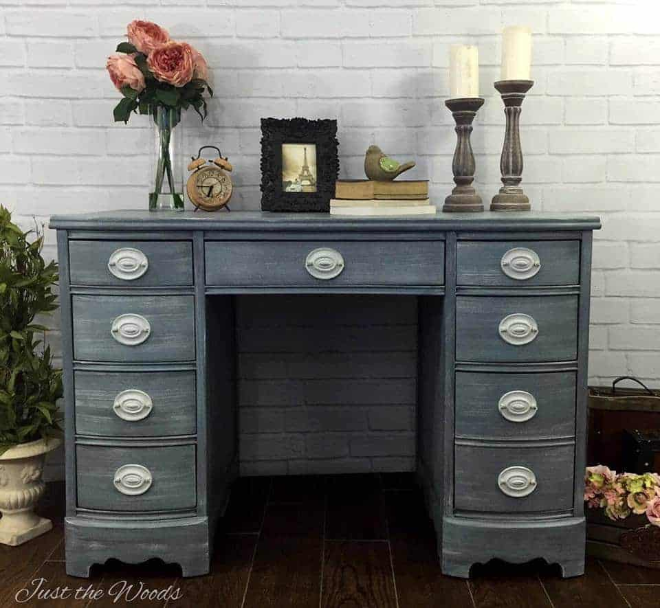 painted furniture, desk, vanity, hepplewhite, vintage furniture, staten island, just the woods, shabby chic, nyc, nj