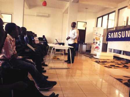SAMSUNG ZALEGO TRAINING AT BUNI HUB AT COSTECH IN DARESALAAM TANZANIA JUUCHINI