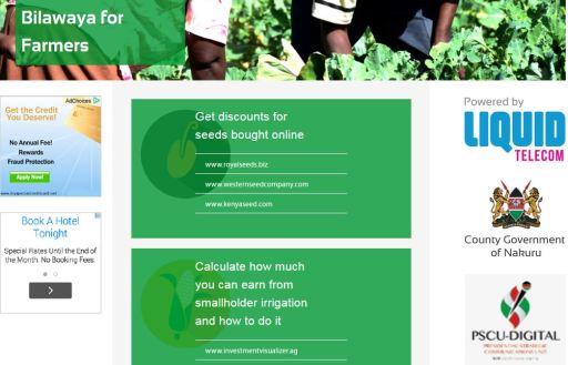 Nakuru Bilawaya For Farmers Free WiFi Initiative By Liquid Telecom JUUCHINI