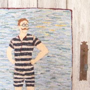 The Vintage Bathing Beau Hooked Rug
