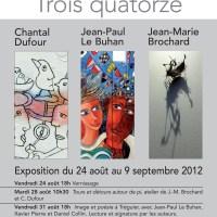 Exposition TROIS QUATORZE à L'oiseau Sablier à Tréguier (Côtes d'Armor)