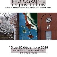 """""""UN PAS DE TROIS"""" exposition de photographie à Montmagny du 13 au 20 décembre 2015"""