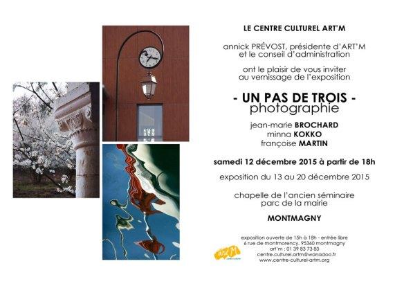 """invitation exposition """"un pas de trois"""" à Montmagny"""