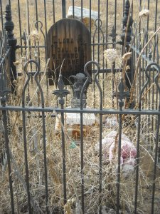 Iron fenced gravesite