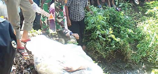 Lokasi-penemuan-mayat-dalam-plastik-di-dekat-sungai-di-Desa-Dasri,-Kecamatan-Tegalsari,-Banyuwangi,-kemarin.