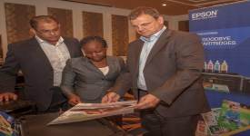 From left Mukesh Bector Regional Sales Manager East africa Epson Europe ...