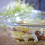 Cuisine Bio, gratin avec des pomme de terre et du fromage raclette