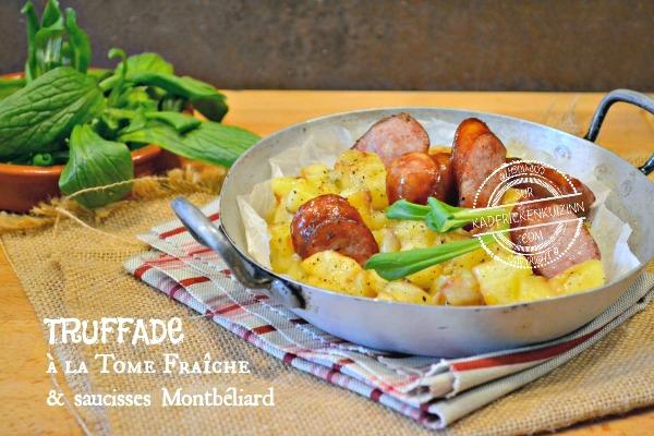 Truffade - Recette de truffade à la tomme fraîche et Montbéliard