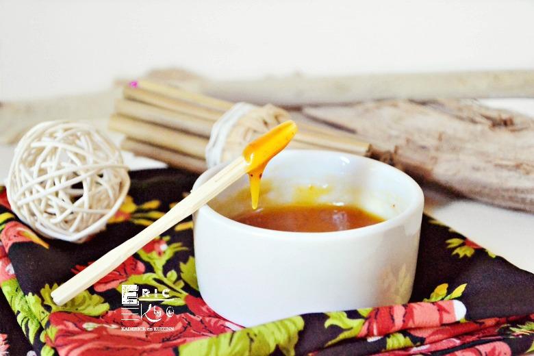 Sauce ananas épicée gingembre et piment d'Espelette