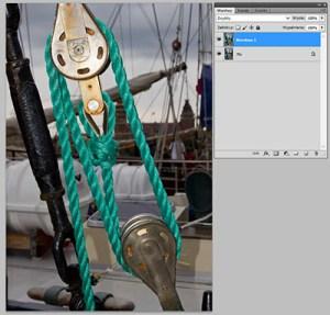 Tryb mieszania warstw Photoshopie - Normal (Zwykły)