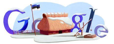 Google Doodle Estonia Eesti 2013