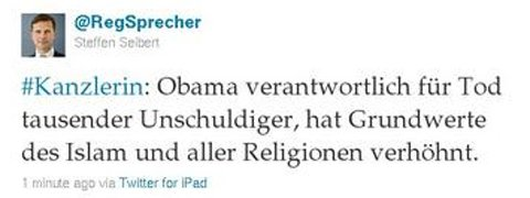 German Government confuses Obama and Osama