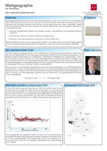 political geography ab Quick and Fancy Conference Posters with beamer/beamerposter