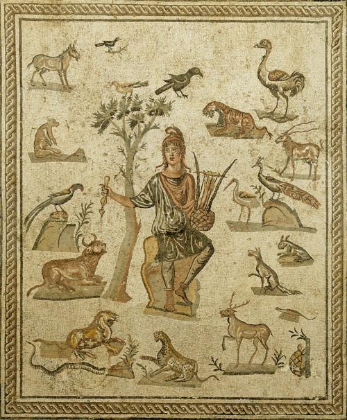 Orfeo e gli animali, 200-250 dc