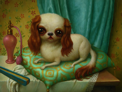 le petit chien oil on panel 2005