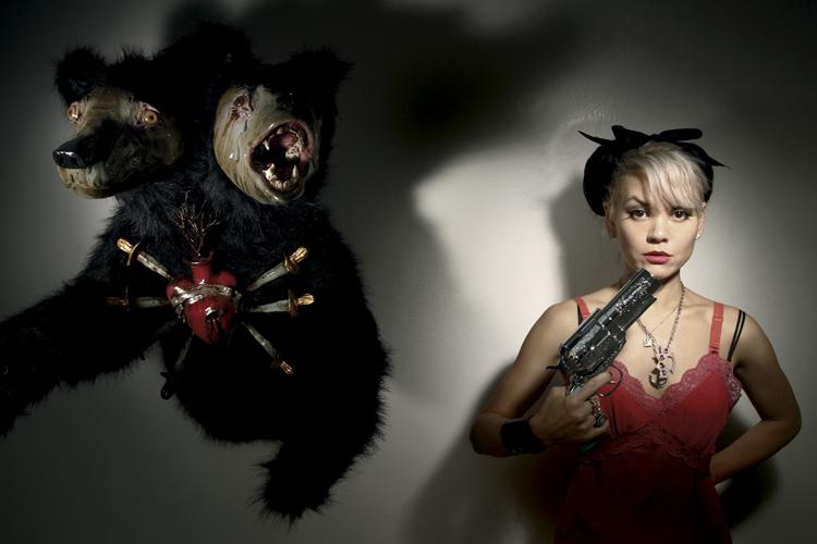 Liz McGrath with bear