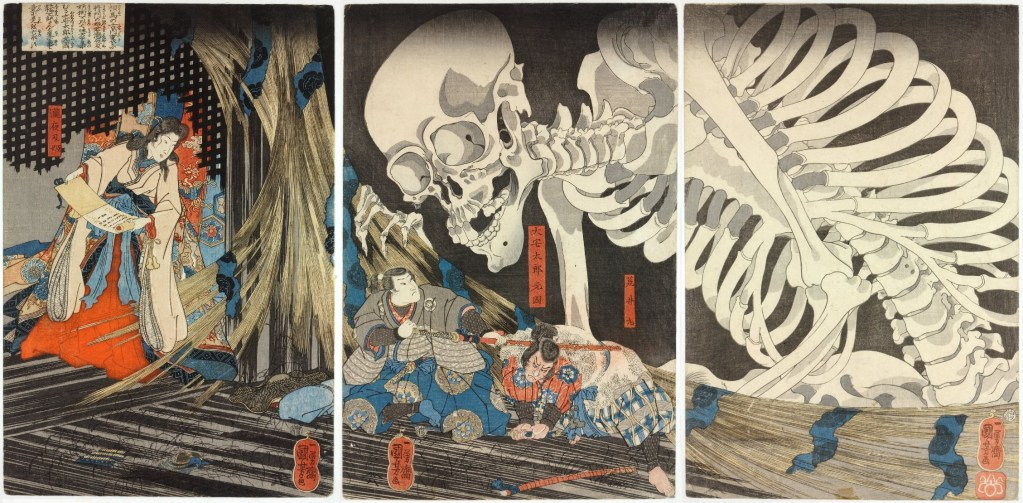 Utagawa Kuniyoshi Takiyasha_the_Witch_and_the_Skeleton_Spectre