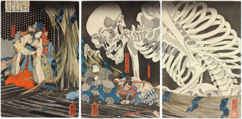 Utagawa Kuniyoshi Takiyasha_the_Witch_and_the_Skeleton_Spectre