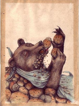 Ericailcane, muffin1 size 35x25 cm